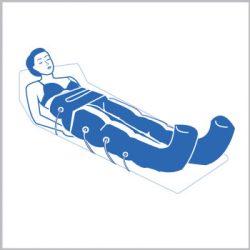 Realiza un drenaje linfático corporal con Presoterapia
