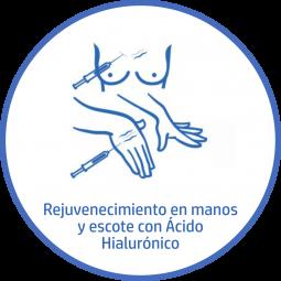Tratamiento estetico Corporal rejuvenece manos y escote acido hialuronico