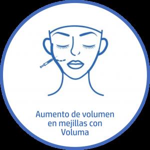 Tratamiento estetico Facial aumento volumen mejillas