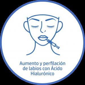 Tratamiento estetico Facial aumento y perfilacion labios acido hialuronico